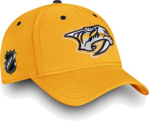 9167caa7 NHL Men's Nashville Predators Authentic Pro Rinkside Speed Gold Flex Hat.  noImageFound. Previous