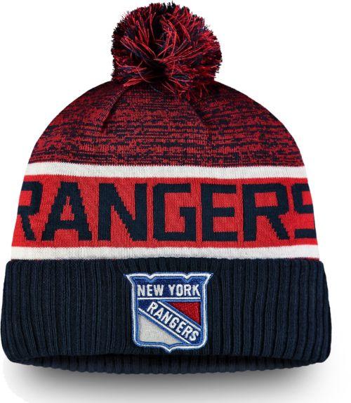 4a82fa37c4d ... denmark nhl mens new york rangers authentic pro rinkside goalie navy cuffed  knit beanie d45b4 c4dc7