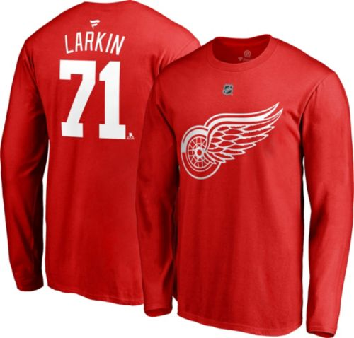 a1a777e5840 NHL Men s Detroit Red Wings Dylan Larkin  71 Red Long Sleeve Player Shirt.  noImageFound. Previous