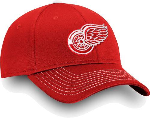 c66ec511f NHL Men s Detroit Red Wings Depth Alpha White Adjustable Hat ...
