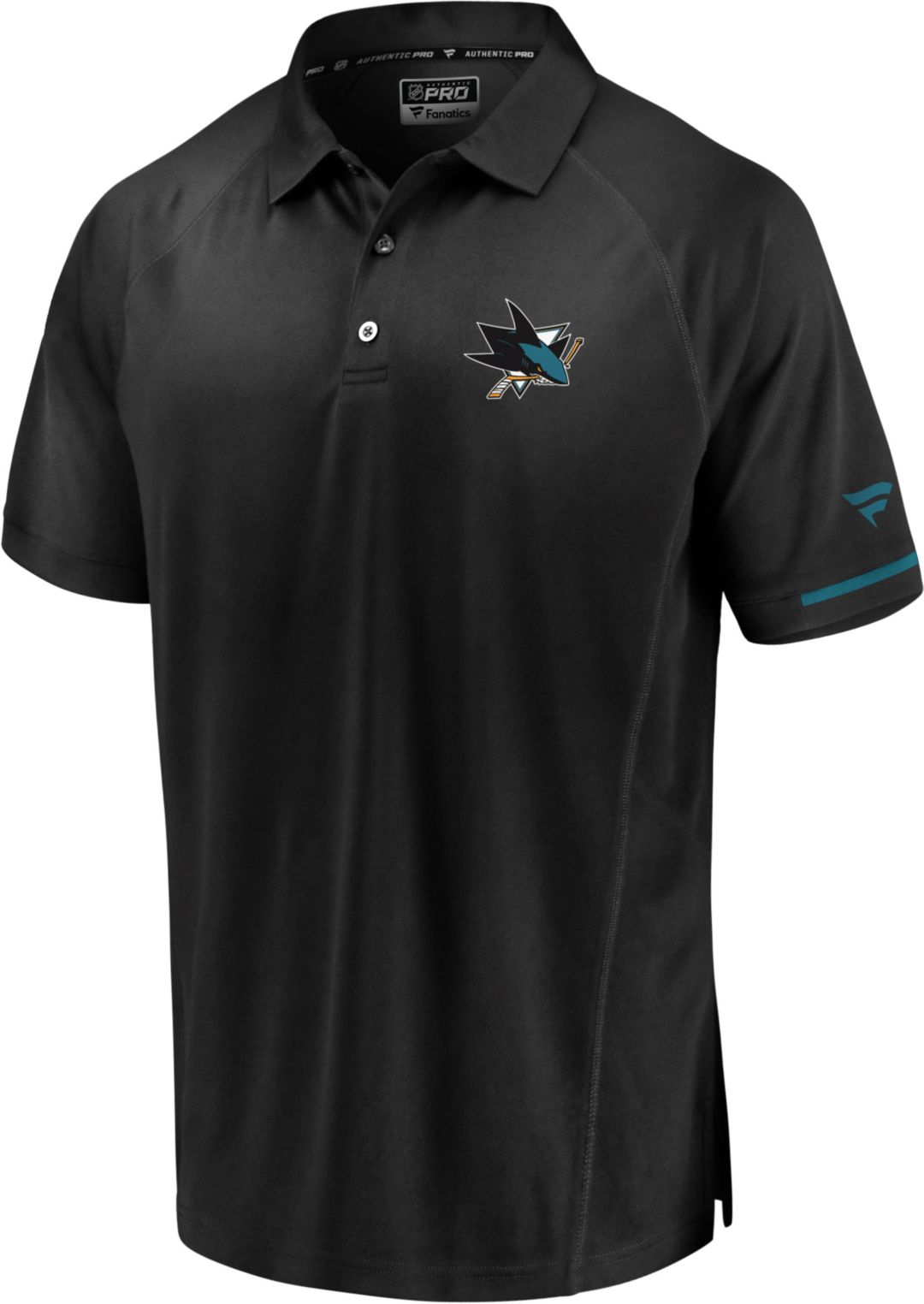 new product 90ab3 639d8 NHL Men s San Jose Sharks Authentic Pro Rinkside Black Polo. noImageFound.  Previous