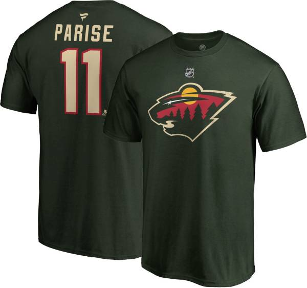NHL Men's Minnesota Wild Zach Parise #11 Green Player T-Shirt product image
