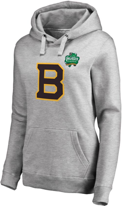 Nhl Women S 2019 Winter Classic Boston Bruins Logo Heather Grey