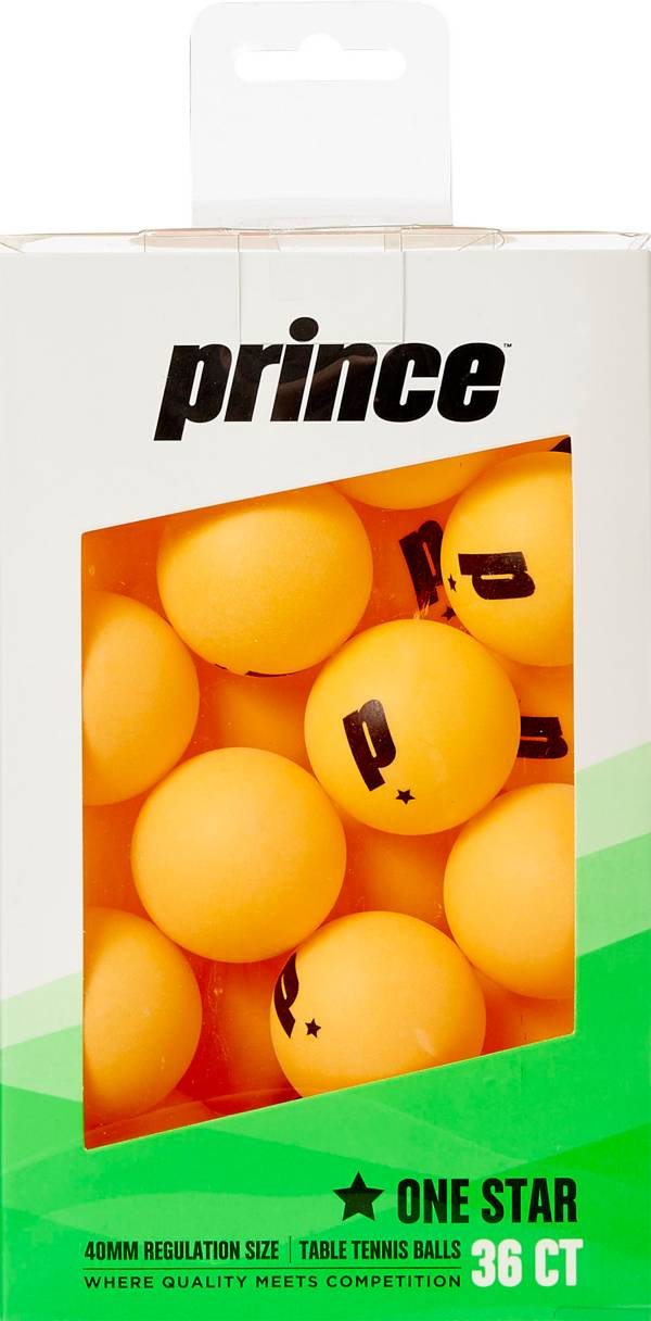 Prince One-Star Orange Table Tennis Balls 36 Pack product image