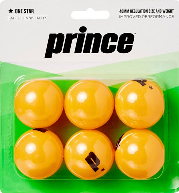Prince One-Star Orange Table Tennis Balls 6 Pack product image