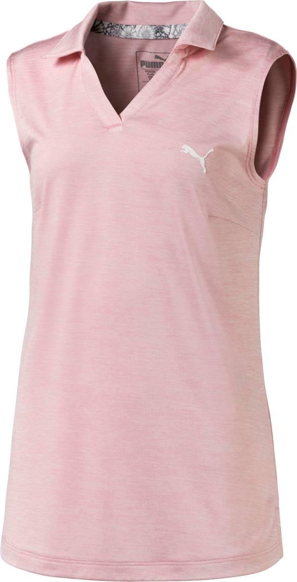 PUMA Girls' Sleeveless Heather Golf Polo product image