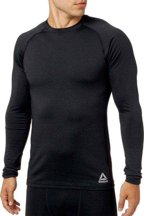 69e6a3af2 Reebok Men's Cold Weather Compression Crew Neck Long Sleeve Shirt.  noImageFound. Previous