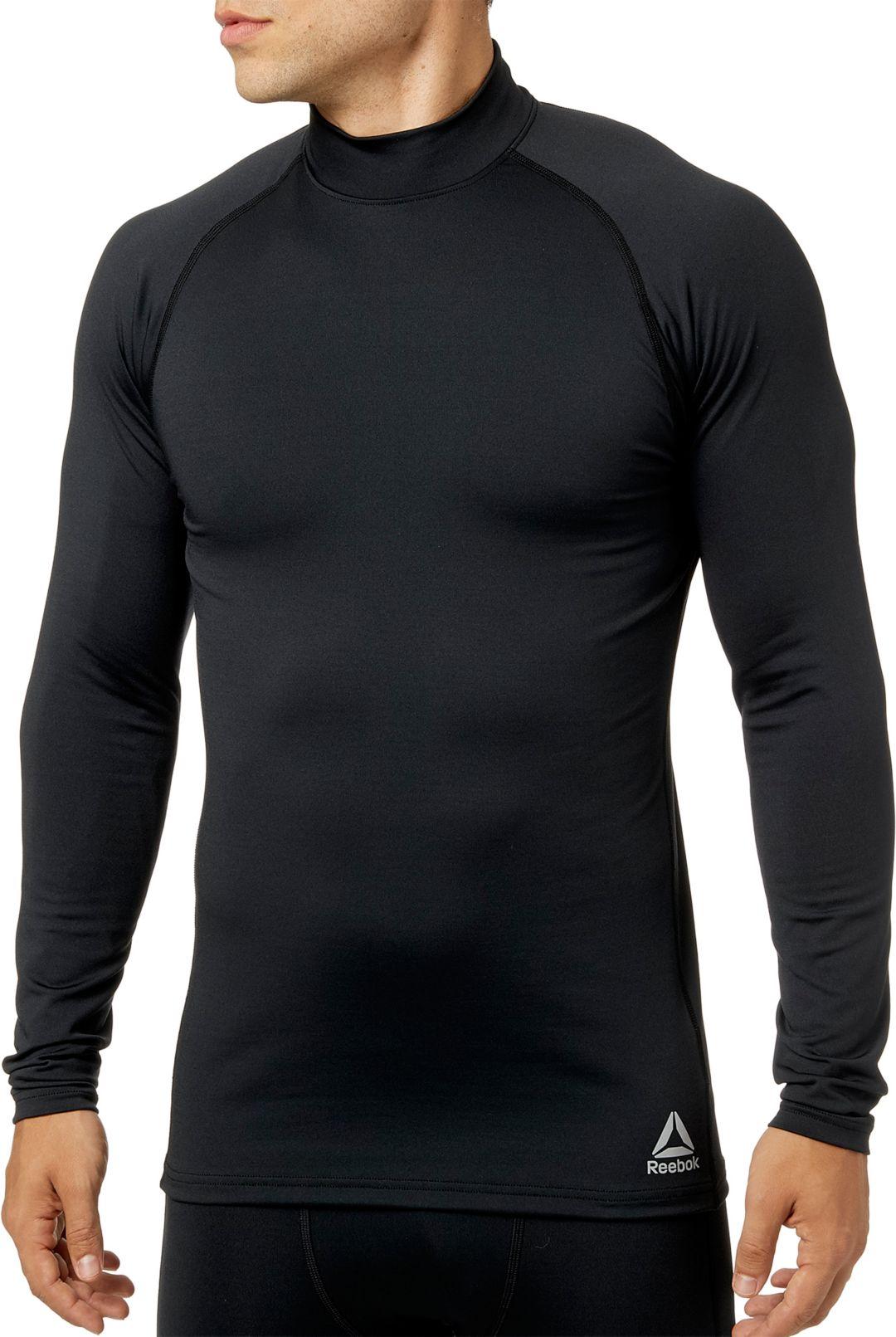 8ea4355ad3 Reebok Men's Cold Weather Compression Mock Neck Long Sleeve Shirt