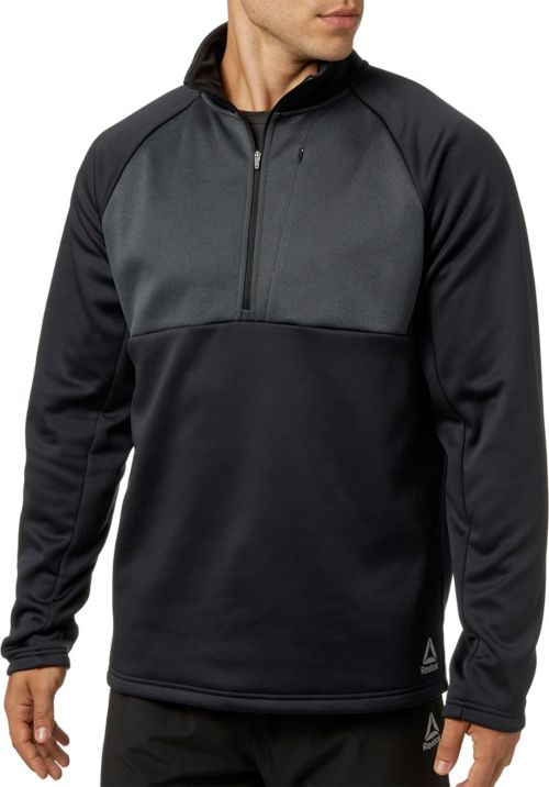 6357d202d737 Reebok Men s Performance Fleece 1 2 Zip Jacket
