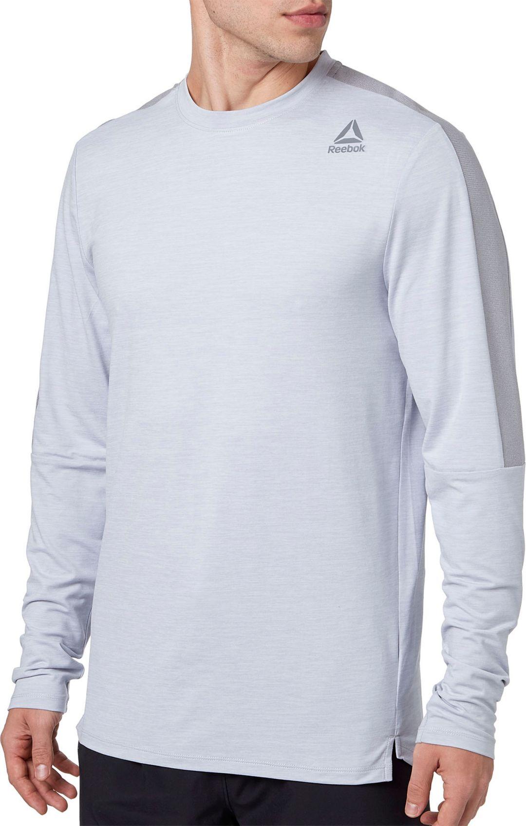 4357326a8daae Reebok Men's 24/7 Crewneck Long Sleeve Shirt