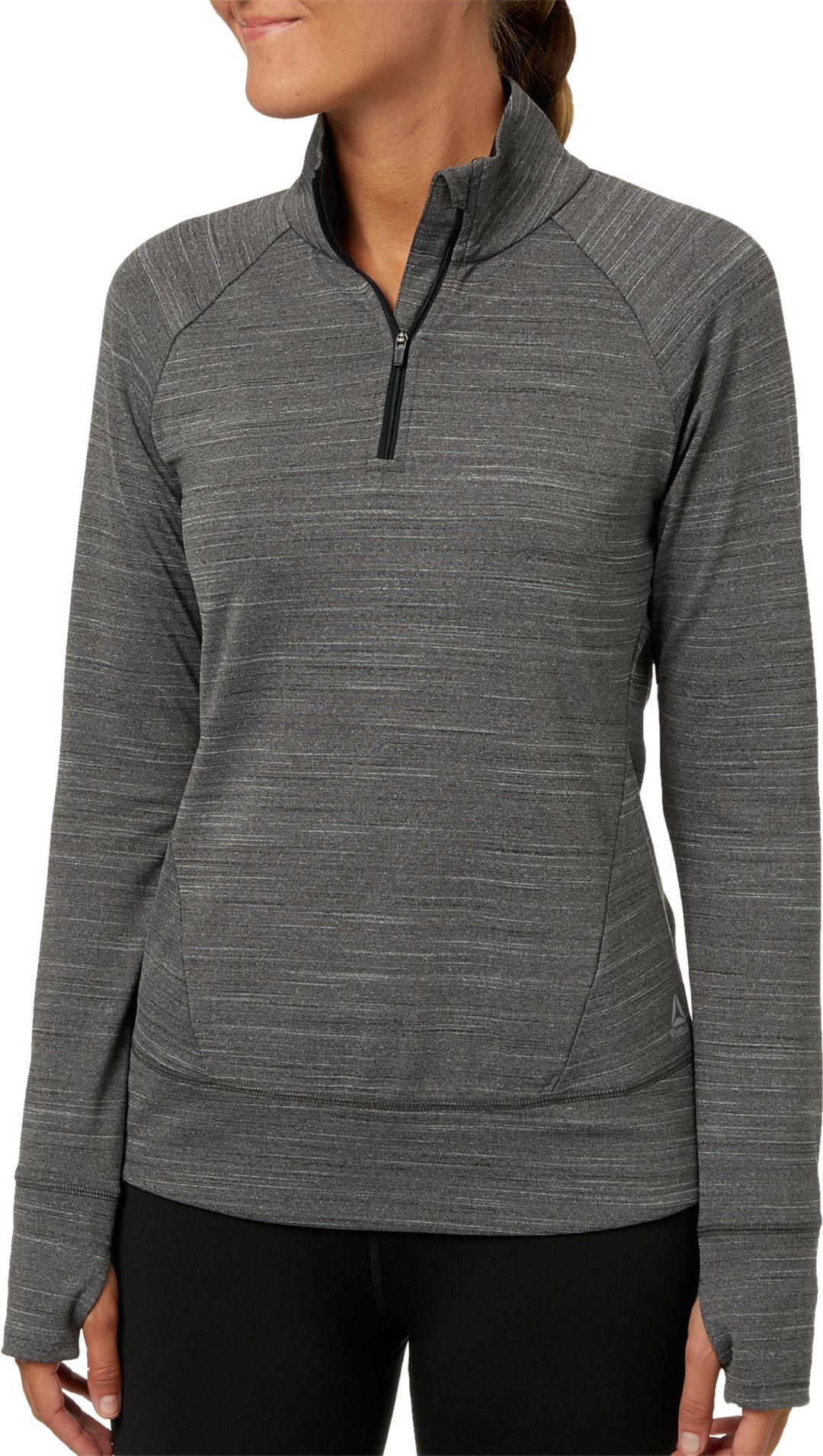 2cc61afae1e Reebok Women's Cold Weather Compression 1/4 Zip Long Sleeve Shirt