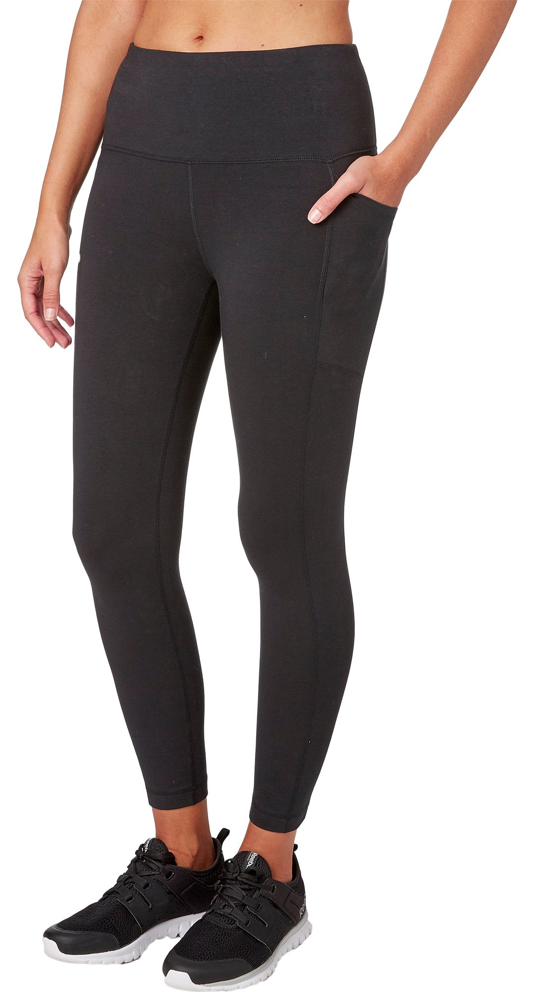 73baabe650496 Reebok Women's Stretch Cotton Ankle 7/8 Tights | DICK'S Sporting Goods