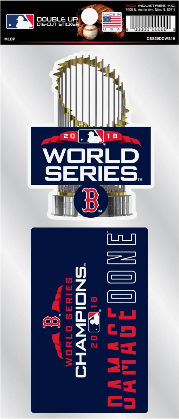Rico 2018 World Series Champions Boston Red Sox 'Damage Done' Stickers product image