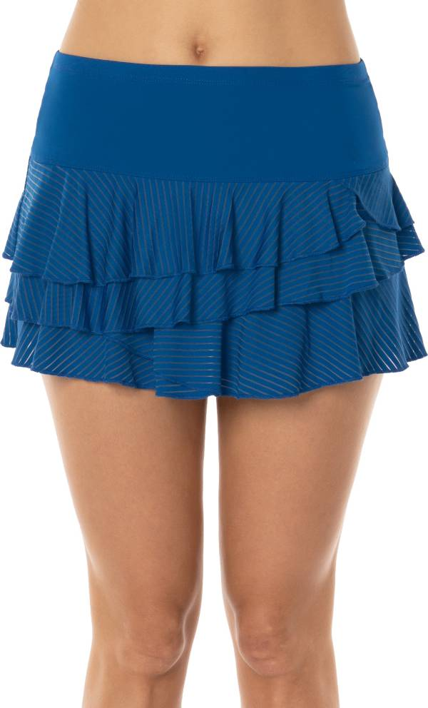 Lucky In Love Women's Shadow Stripe Rally Tennis Skirt product image