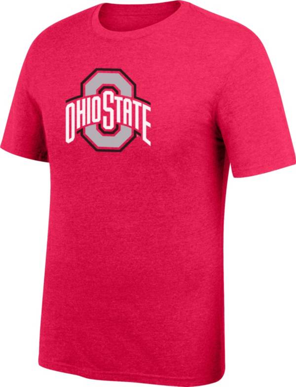 Scarlet & Gray Men's Ohio State Buckeyes Scarlet Staple T-Shirt product image