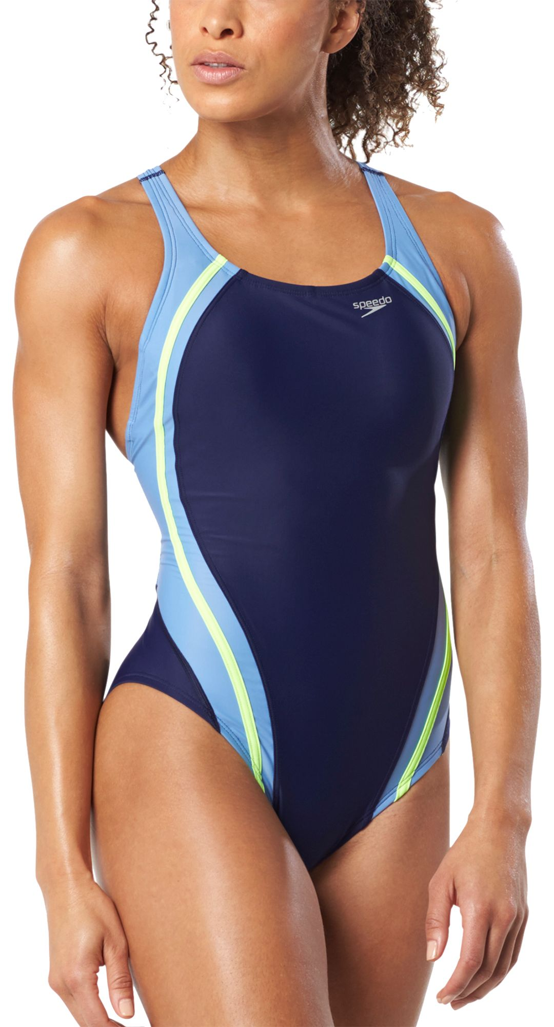 c8a365be1be01 Speedo Women's PowerFLEX Eco Quantum Splice One Piece Swimsuit.  noImageFound. Previous
