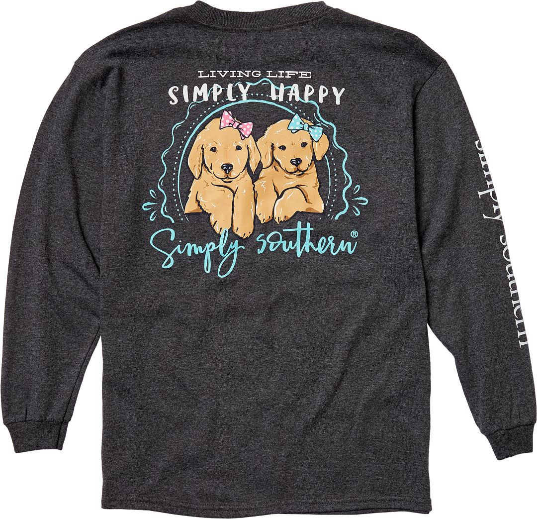 0b500a2a Simply Southern Girls' Happy Long Sleeve Shirt. noImageFound. Previous