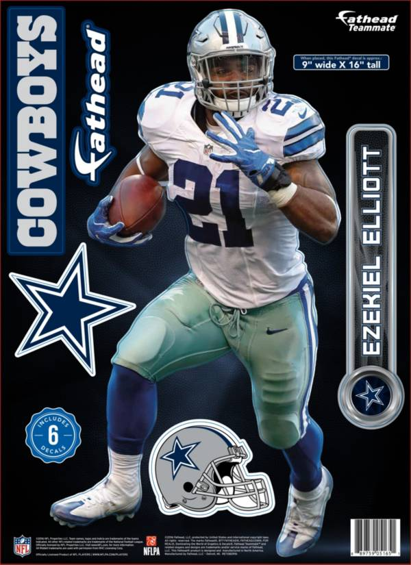 Ezekiel Elliott Dallas Cowboys 2 adesivi decal Badge Emblema NFL FOOTBALL