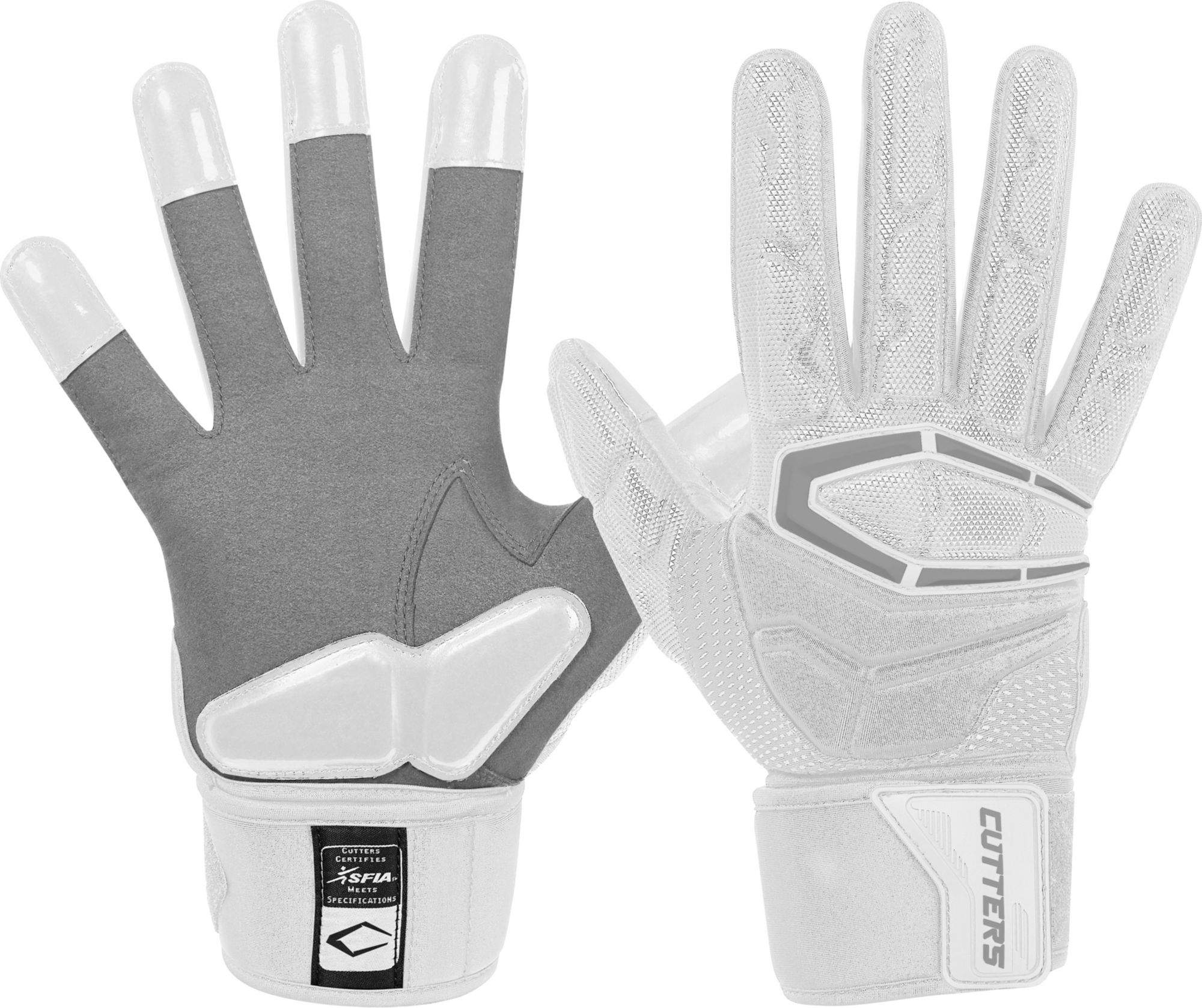Grip Football Glove Cutters Game Day Padded Football Glove for Lineman and All- Purpose Player Youth /& Adult Sizes 1 Pair