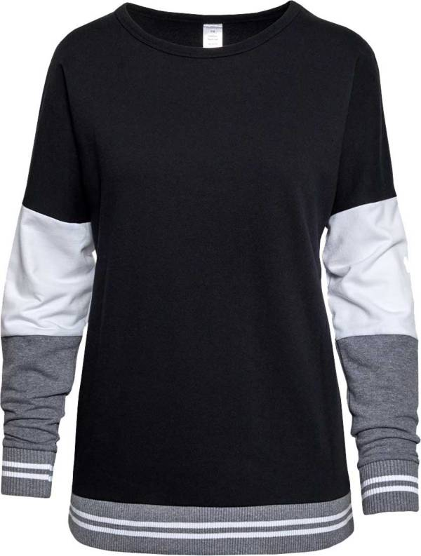 Soffe Girls' Colorblock Crew Neck Pullover product image