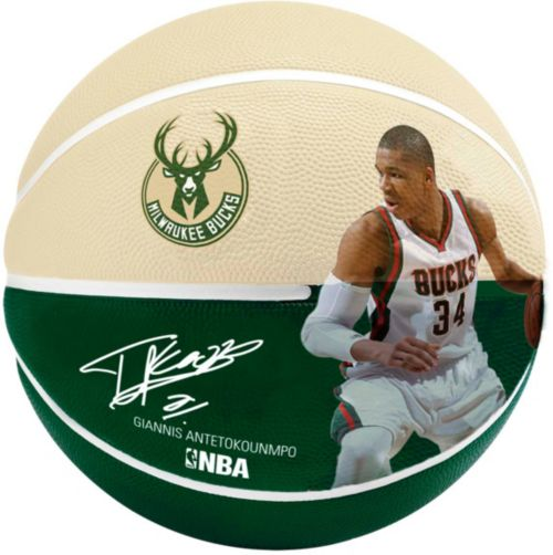 5a3140bb442f Spalding Milwaukee Bucks Giannis Antetokounmpo Player Basketball ...
