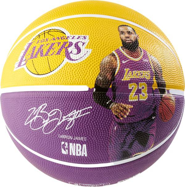 Spalding Los Angeles Lakers Lebron James Player Full Sized Basketball product image