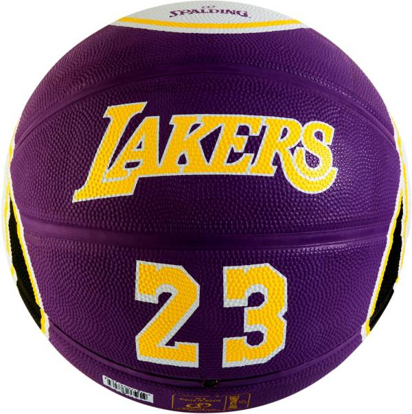 Spalding Los Angeles Lakers LeBron James Purple Full-Sized Court Side Basketball product image