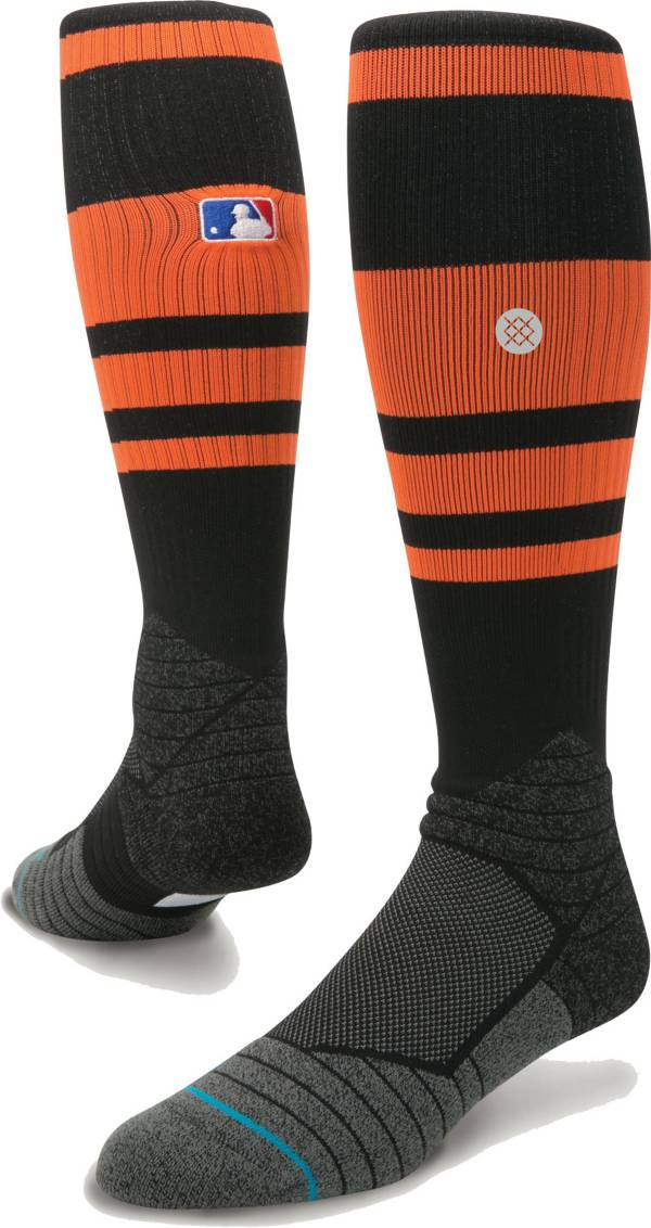 Stance MLB Diamond Pro On-Field Striped Black Sock product image