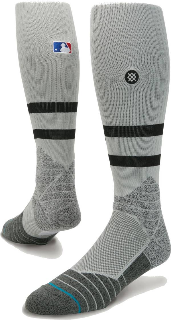 Stance MLB Diamond Pro On-Field Striped Gray Sock product image