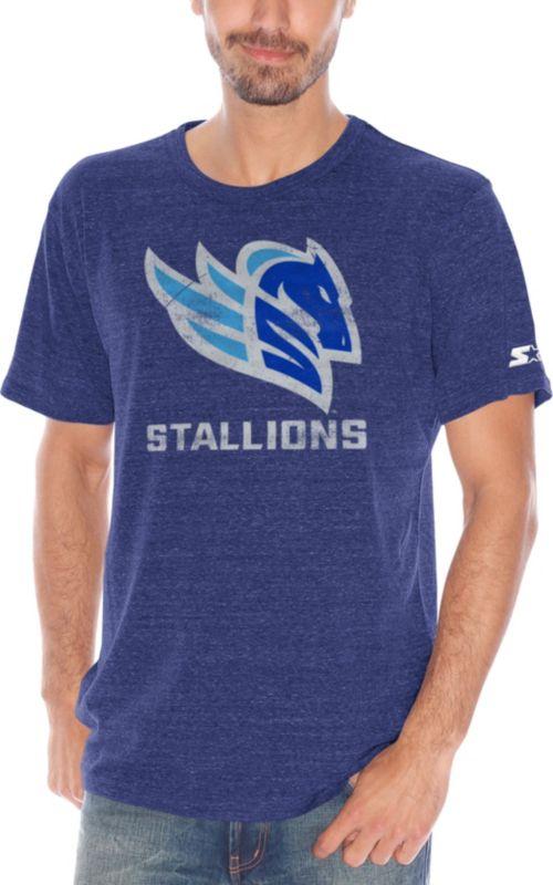 14d45a95 Starter Men's Salt Lake Stallions Champs Blue Heathered T-Shirt.  noImageFound. 1