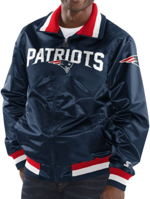 f3d076e07 Starter Men s New England Patriots Navy Full-Zip Satin Jacket.  noImageFound. 1