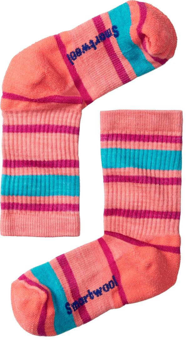 Smartwool Kid's Striped Hike Light Crew Socks product image