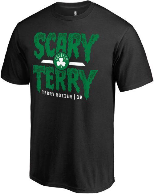 "96ad9533 NBA Men's Boston Celtics Terry Rozier ""Scary Terry"" Black T-Shirt ..."