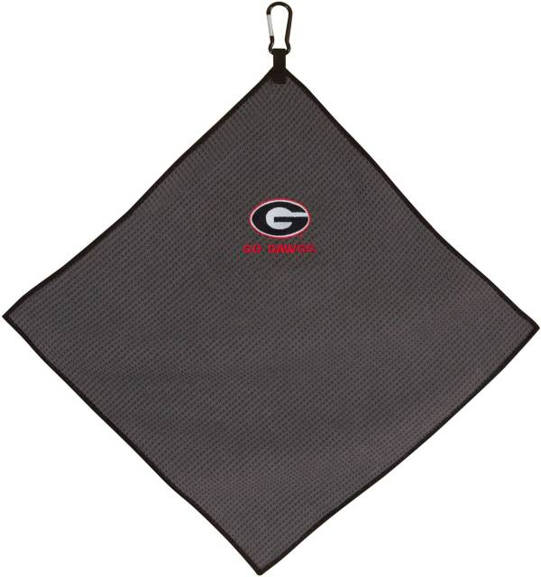 "Team Effort Georgia Bulldogs 15"" x 15"" Microfiber Golf Towel product image"