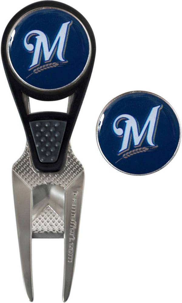 Team Effort Milwaukee Brewers CVX Divot Tool and Ball Marker Set product image