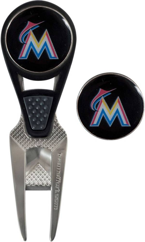 Team Effort Miami Marlins CVX Divot Tool and Ball Marker Set product image