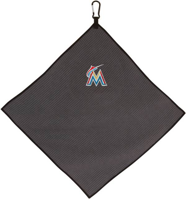"Team Effort Miami Marlins 15"" x 15"" Microfiber Golf Towel product image"
