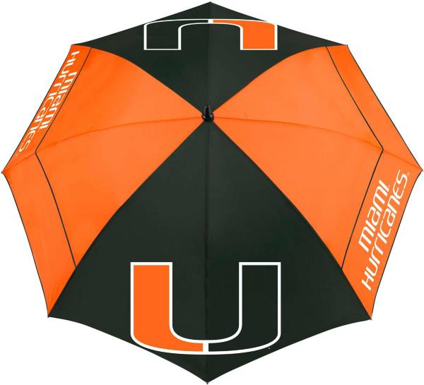 "Team Effort Miami Hurricanes 62"" Windsheer Lite Golf Umbrella product image"