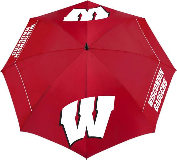"Team Effort Wisconsin Badgers 62"" Windsheer Lite Golf Umbrella product image"
