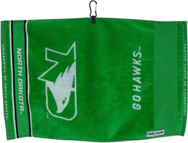 Team Effort North Dakota Fighting Hawks Face/Club Jacquard Golf Towel product image