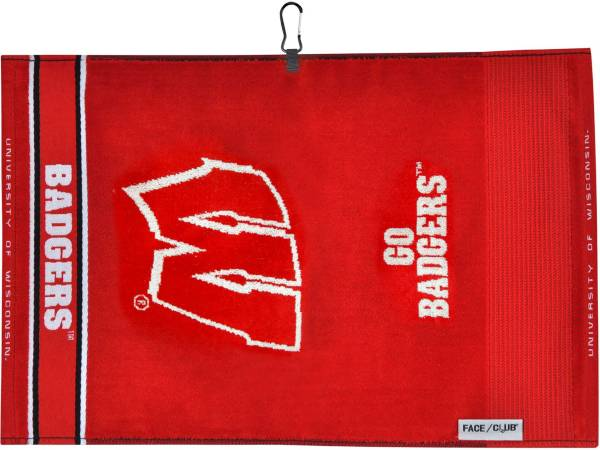 Team Effort Wisconsin Badgers Face/Club Jacquard Golf Towel product image