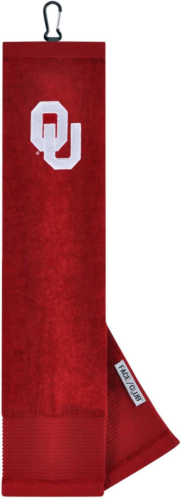 Team Effort Oklahoma Sooners Embroidered Face/Club Tri-Fold Towel product image