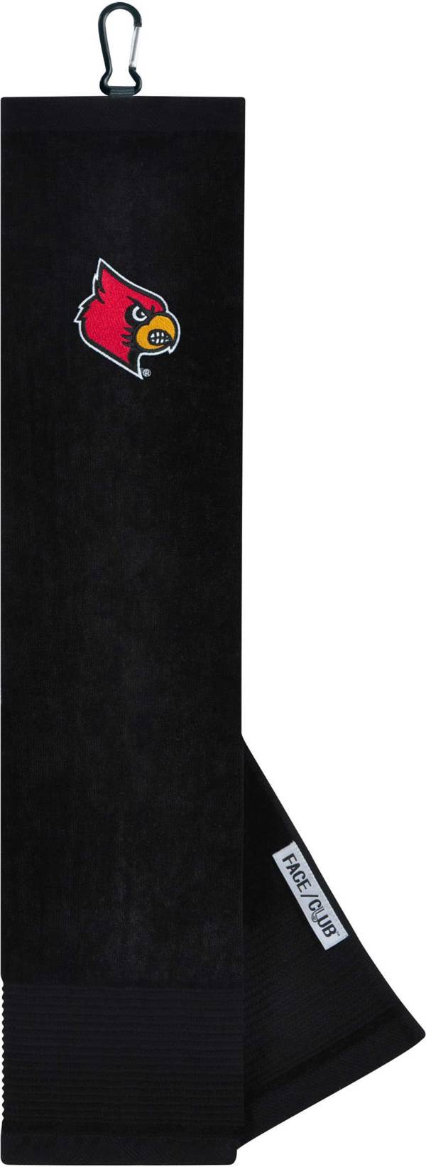 Team Effort Louisville Cardinals Embroidered Face/Club Tri-Fold Towel product image