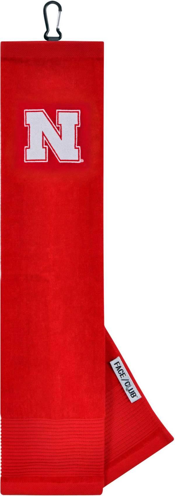 Team Effort Nebraska Cornhuskers Embroidered Face/Club Tri-Fold Towel product image