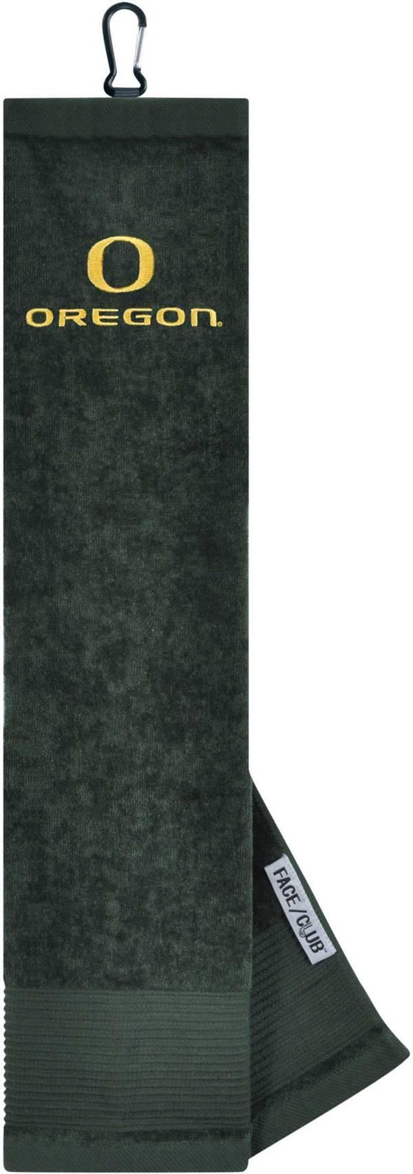 Team Effort Oregon Ducks Embroidered Face/Club Tri-Fold Towel product image