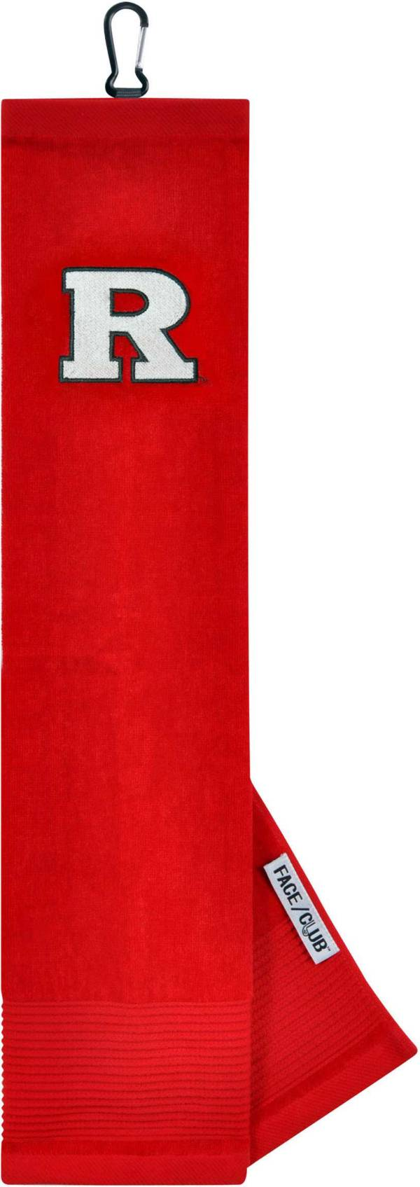 Team Effort Rutgers Scarlet Knights Embroidered Face/Club Tri-Fold Towel product image