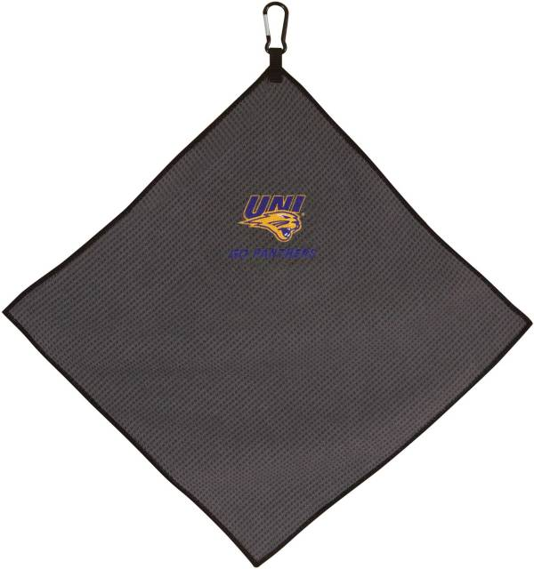 "Team Effort Northern Iowa Panthers 15"" x 15"" Microfiber Golf Towel product image"