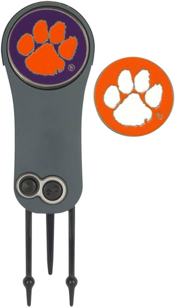 Team Effort Clemson Tigers Switchblade Divot Tool and Ball Marker Set product image
