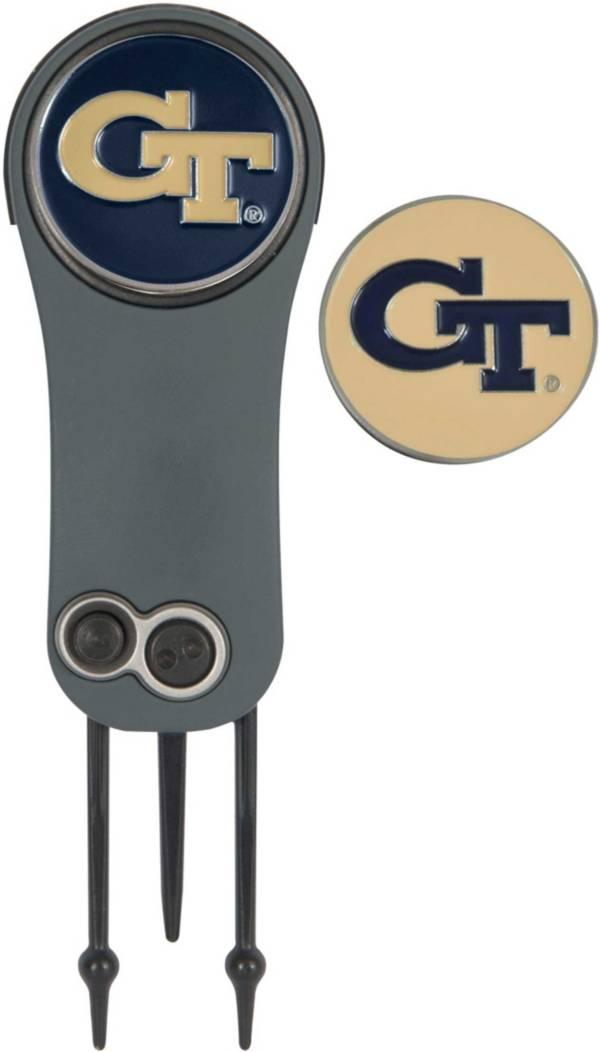 Team Effort Georgia Tech Yellow Jackets Switchblade Divot Tool and Ball Marker Set product image