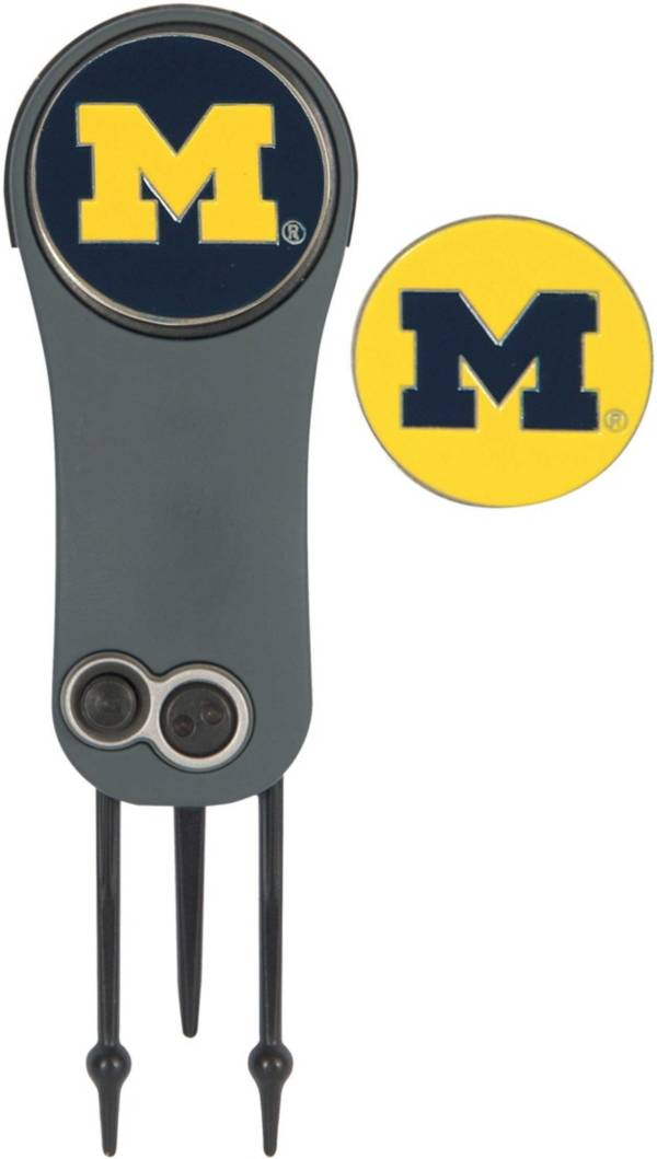 Team Effort Michigan Wolverines Switchblade Divot Tool and Ball Marker Set product image